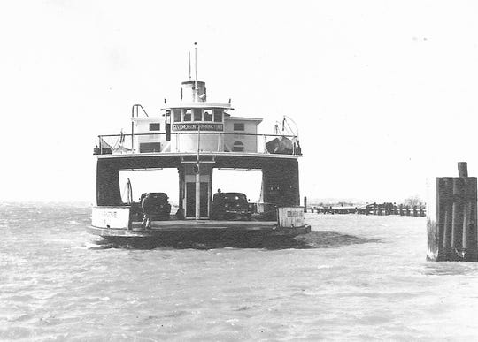 """Before the ferry """"Adirondack"""" arrived in Lake Champlain in 1954, it operated as the """"Gov. Emerson C. Harrington II"""" along the eastern Chesapeake Bay. The ship was built as the """"South Jacksonville"""" in 1913. She was sold in 1921, re-christened the """"Mount Holly"""" and plied the Delaware River until 1927; and then the East River along New York City until 1938."""