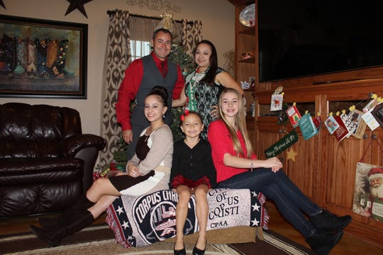 Corpus Christi Police Officer Alan McCollum, his wife Michelle and their three daughters, Hannah, Carissa and Liliana. McCollum was struck and killed during a routine traffic stop on January 31, 2020.