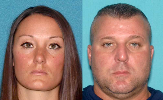 Andrea Knox and Jeffrey Reitz, suspended New Jersey State Police troopers