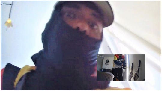 Police say Bernard Miller, 36, is the man seen in surveillance images recorded during a Collingswood crime spree.