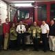 Pictured Left to Right; EMS Captain Alyssa Boggs, Asst. Fire Chief Branson Leisure, Captain Brandon Robinson, Mayor Matthew Conley.