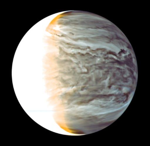 Venus taken by Japan's Akatsuki space craft.