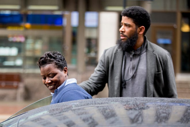 Tamaya Dennard leaves the Potter Stewart U.S. Courthouse in downtown Cincinnati on Tuesday, Feb. 25, 2020, after being released from federal custody. Dennard was charged with bribery, wire fraud and attempted extortion.
