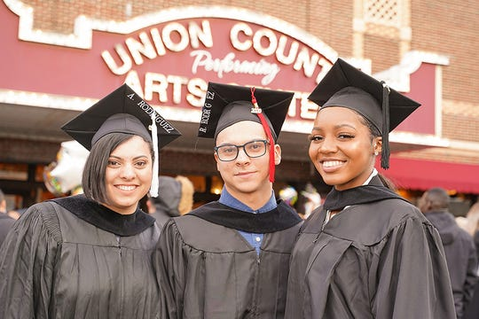 Union County College celebrated 500 graduates at Winter commencement ceremonies