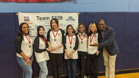TEECS Girls Robotics team dominates.