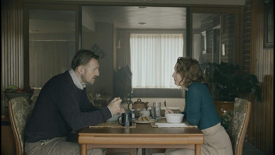 """Liam Neeson and Lesley Manville in """"Ordinary Love."""" (Bleeker Street/TNS)"""
