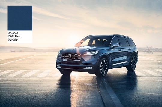 Lincoln is spotlighting its 2020 Lincoln Aviator in Flight Blue as the Pantone Color Institute names Classic Blue as its color of the year. Shades of blue tend to deliver feelings of calmness and serenity, color experts say.