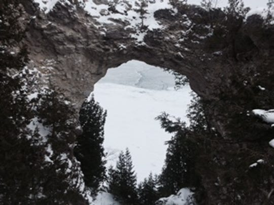 Arch Rock is the most famous natural landmark on the island.
