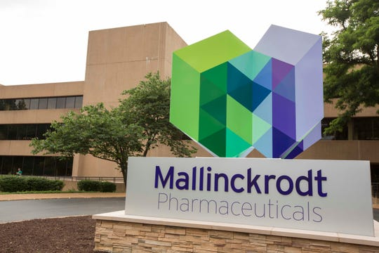 FILE- In this July 1, 2013 file photo, is the exterior of the Mallinckrodt Pharmaceuticals office in St. Louis. The generic drugmaker Mallinckrodt has a tentative $1.6 billion deal to settle lawsuits over its role in the U.S. opioid crisis, it announced Tuesday, Feb. 25, 2020.
