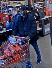 Roseville police say this man took about $1,000 of merchandise from a Home Depot store and assaulting a loss prevention officer.