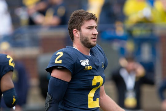 Michigan quarterback Shea Patterson threw for 5,661 yards and had 45 touchdowns and 15 interceptions with the Wolverines, and ran for 323 yards on 163 carries with seven rushing touchdowns.