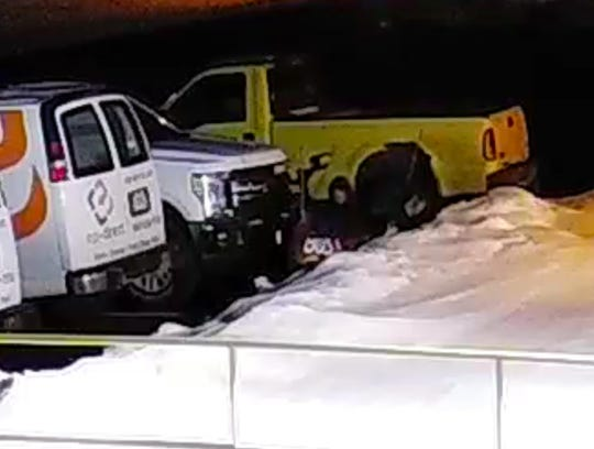 Law enforcement believes the yellow truck pictured in video footage from EP-Direct is linked to other thefts in the Sun Prairie area.