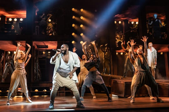 "A scene from the North American tour of ""Jesus Christ Superstar"""
