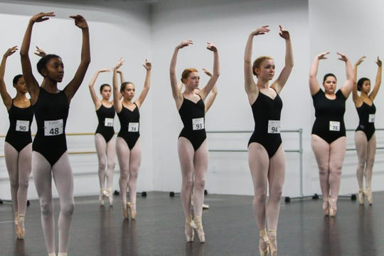 Dancers and ballerinas from across the Upstate participate in the Hong Kong tryouts for ALICE at International Ballet Academy on Saturday, Jan. 25, 2020.