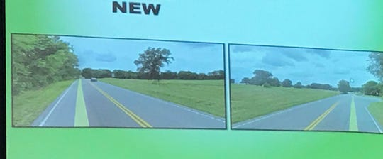 These pictures show what a realigned intersection at U.S. 60 and Kentucky 1078 will look like.