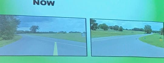 Pictures of an intersection at U.S. 60 and Kentucky 1078 which is getting realigned to help prevent traffic crashes.
