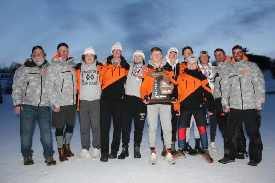 Brighton's boys brought home a trophy from the state ski meet for the first time, finishing as the runner-up by one point to Marquette.