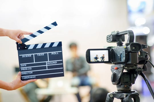 Illustration image. A film crew is working on a faith-based TV movie in Brighton and Howell.