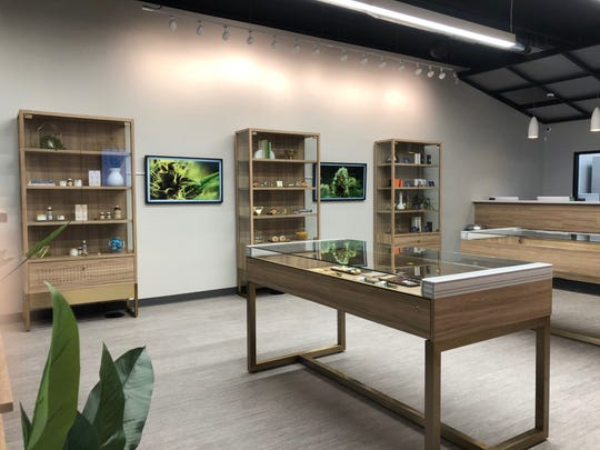 An interior shot of Lume, a recreational marijuana retailer that opens Tuesday, Feb. 25, 2020 in Owosso