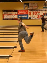 River Valley boys bowler Josh Warwick practices at Bluefusion Entertainment before the Vikings competed at this year's Division II state tournament. The bowling center will be closed indefinitely due to the coronavirus outbreak.