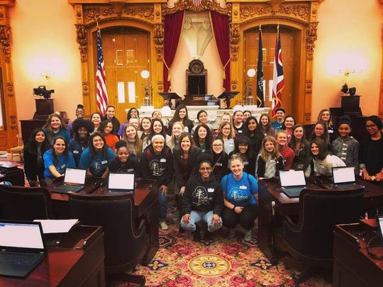 Members of Leading Ladies, an organization designed to mentor girls and young women in Marion County, recently visited the Ohio Statehouse in Columbus and met with State Rep. Tracy Richardson, R-Marysville. Leading Ladies founder Jessica Coleman said the girls enjoyed the experience.