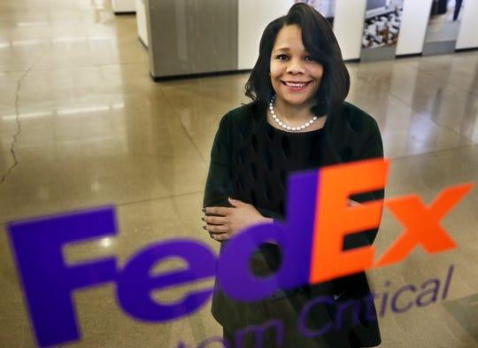 Ramona Hood, the CEO and President of FedExCustom Critical on Monday Jan. 27, 2020 in Green, Ohio.