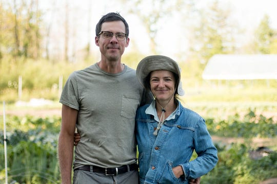 Husband and wife Jeff Schreiber and Kelly Kiefer have run Three Sisters Community Farm in Campbellsport since 2011.