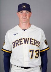 Brewers relief pitcher Drew Rasmussen