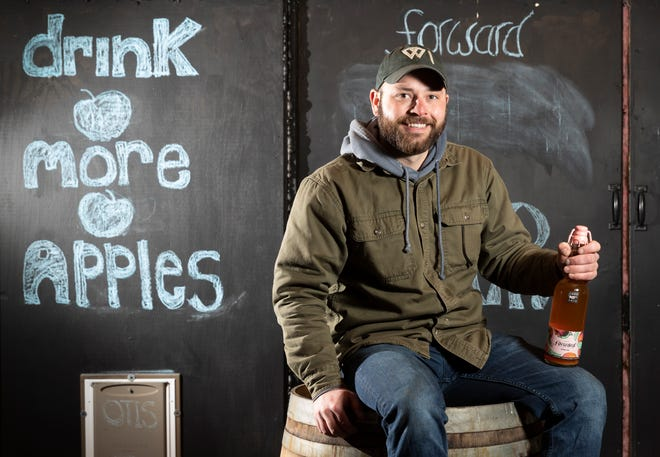 Alec Steinmetz started out brewing beer but has found his passion in making dry ciders. He produces Forward ciders in a barn in Myra.