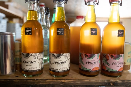 Forward Cider has two styles sold in 750-milliliter bottles: Bare Brut and Cuvee Cru.