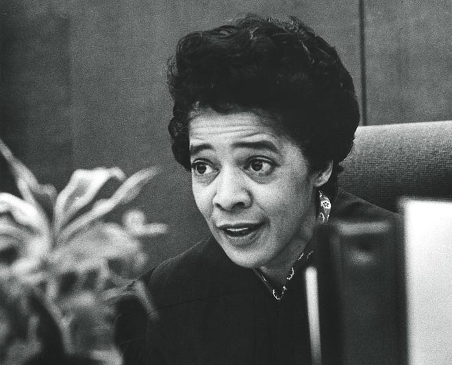 Vel Phillips, a Milwaukee judge, alderwoman and civil rights pioneer who died in 2018, was a past recipient of a Black Excellence Award. She is pictured here in 1971.