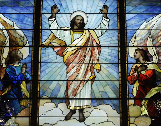The ascension stained glass window at St. John's Episcopal Church in downtown Montgomery.