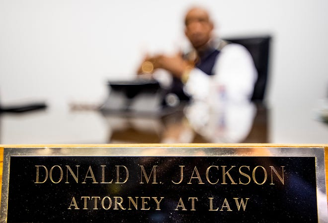 Sports Attorney Don Jackson at his offices in Montgomery, Ala., on Monday February 24, 2020.