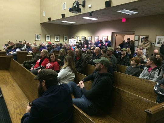 Sumner County citizens filled the commission chamber Monday, Feb. 24 when commissioners considered legislation supporting the second amendment.