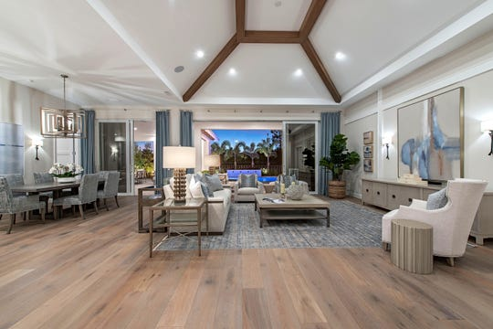 Design packages specify the highest quality materials, including Crystal cabinets, Andersen windows, and Viking appliances in all of the five floor plans that range from 3,200 to 5,200 square feet.