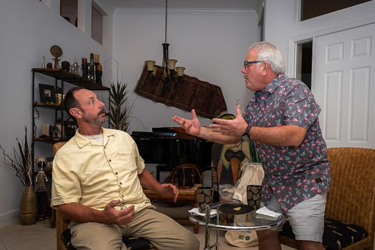 """Greg Madera, left, and Ty Szumigala play characters caught up in the mystery of """"The Golden Charm of Marco Island."""""""