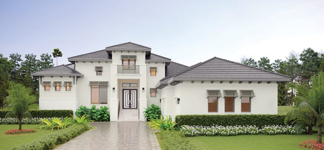 Gardenia II is one of two floorplans being constructed in Bay Woods at Bonita Bay.