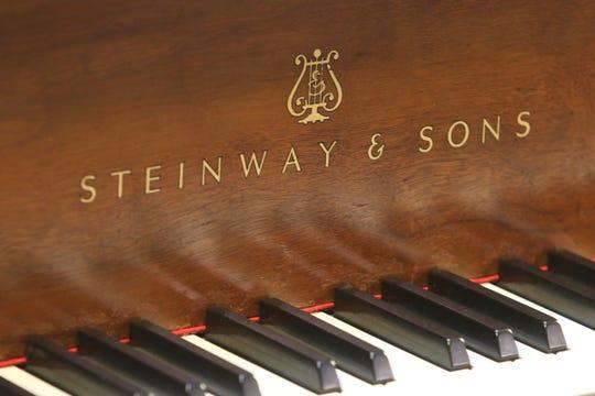 A restored piano at the Lindeblad Piano Restoration Company in Dover, NJ on February 21, 2020.