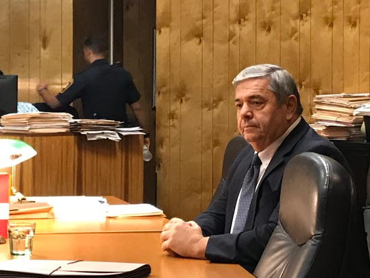 John Strobeck during his trial in October.