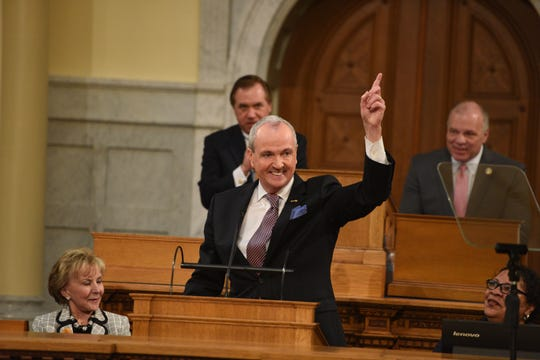 Gov. Phil Murphy delivers his budget speech in Trenton on Tuesday, Feb. 25, 2020.