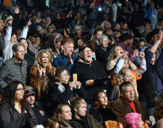 A crowd at the 2018 Las Cruces Country Music Festival reacts to the evening's performances. After seven years, the festival may be coming to an end.