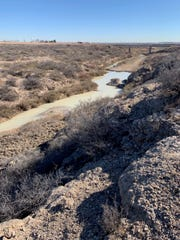 A portion of the Black River appears to be suffering from an industrial spill, Feb. 24, 2020 in Malaga.