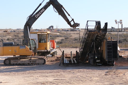 A pipeline construction site owned by Matador Resources is pictured, Feb. 24, 2020 in Malaga.