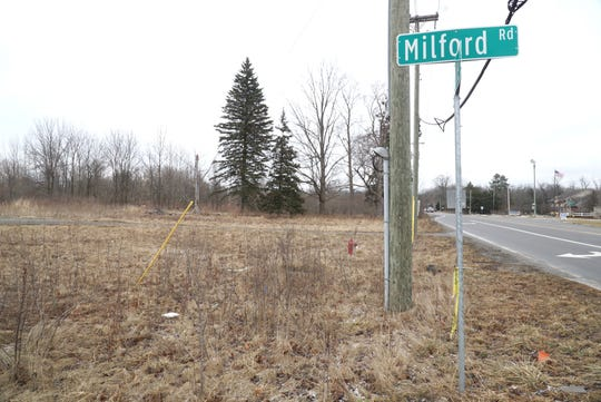 A proposal to develop Milford Shoppes at this parcel of land at Ten and Milford Road was recently submitted to the Lyon Township Planning Commission.