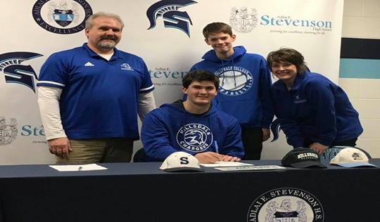 Stevenson senior Nate Waligora has signed to play baseball at Hillsdale.