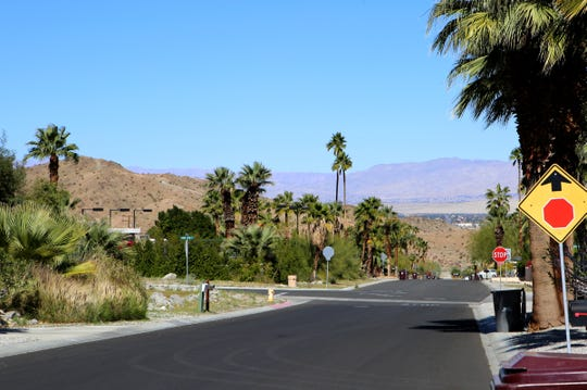 The Cove neighborhood is photographed along Paradise Way in Cathedral City, Calif., on February 25, 2020.