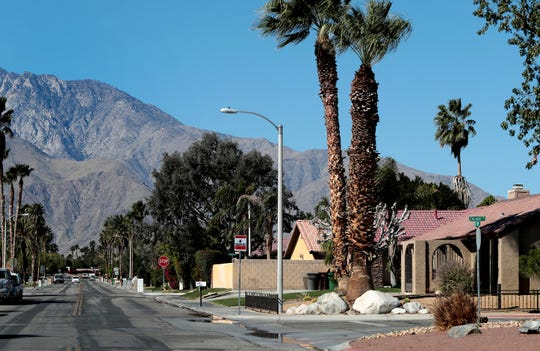 The Panorama neighborhood is photographed along Tachevah Drive in Cathedral City, Calif., on February 25, 2020. The city is soon to release its short-term vacation rental survey results.