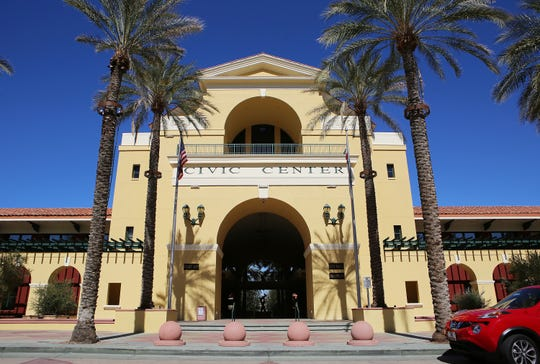 Cathedral City Civic Center is photographed in Cathedral City, Calif., on February 25, 2020.