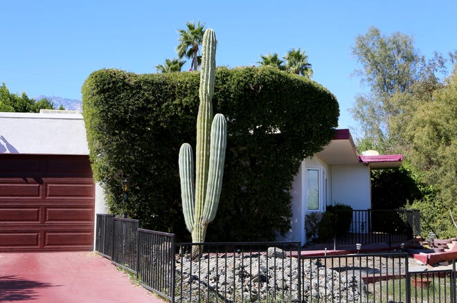 A short-term vacation rental is photographed along Paradise Way in Cathedral City, Calif., on February 25, 2020.