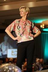 Lauren Del Sarto of Desert Health magazine proudly worked the runway.